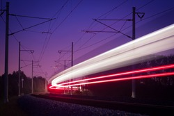bright line passing night train
