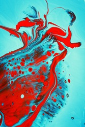 bright marble texture formed by mixing  colorful ink, abstract background