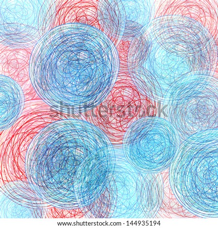 Bright multicolored background with different abstract elements #144935194