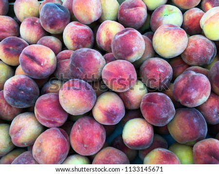 bright nectarines in the market