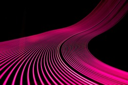 Bright neon line designed background, shot with long exposure. Modern background in lines style. Abstract, creative effect, texture with lighting, art of colors combination. Artistic choice of shapes.