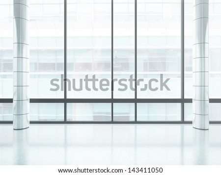 bright office window