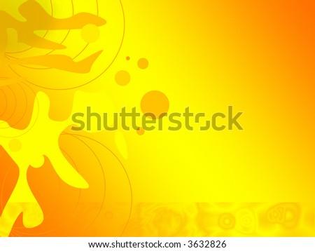 Bright orange digital background - abstract illustration