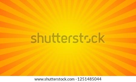 Bright orange rays background. Comics, pop art style.