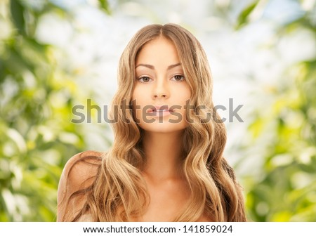 bright picture of beautiful woman with long hair