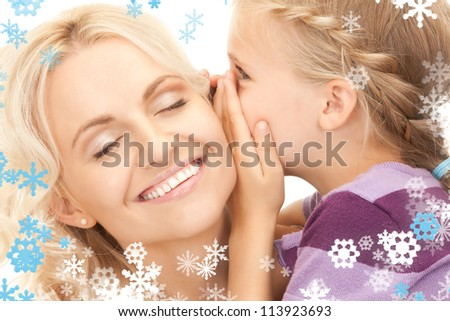 bright picture of happy mother and child.
