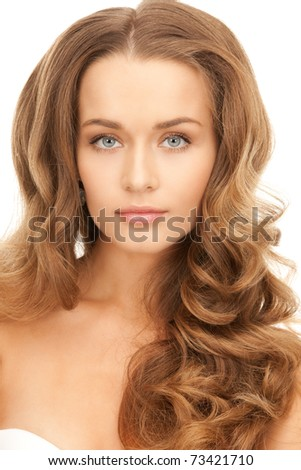 bright picture of lovely woman...