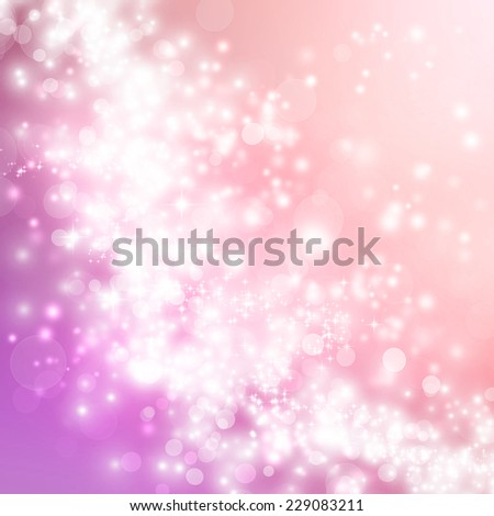 Bright pink gradient lights and stars abstract background