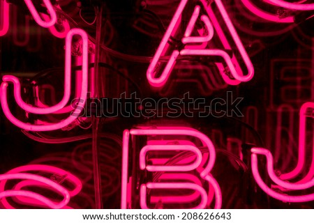 Bright Pink Neon Letters #208626643