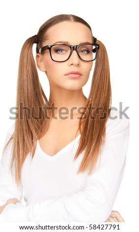 bright portrait of a young attractive businesswoman