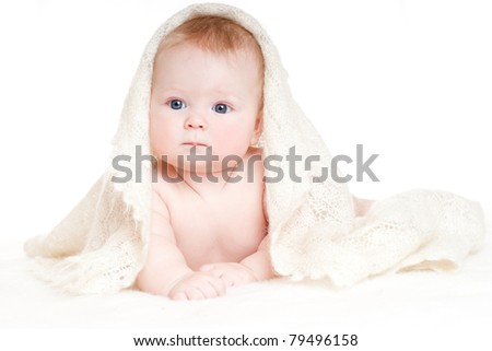 bright portrait of adorable baby