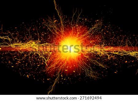 Bright powerful energy Foto d'archivio ©