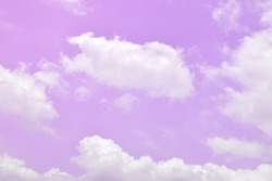 Bright Purple and Pink Sky and beautiful clouds with abstract colored background and wallpaper.