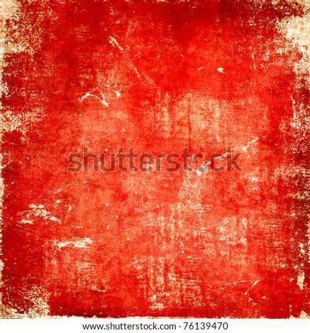 Bright red grunge texture