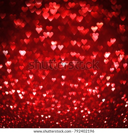 Bright red hearts abstract background #792402196