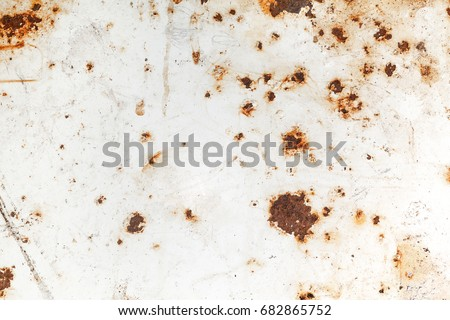 Bright rust stains texture paint showing through to rust underneath Foto stock ©