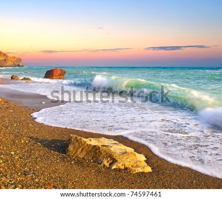 Bright seascape. Composition of the nature