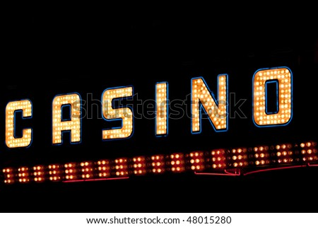 Bright shiny casino neon lights