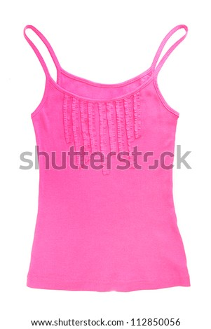 bright singlet, isolated on white