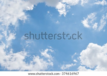 Bright sky and fresh air for background