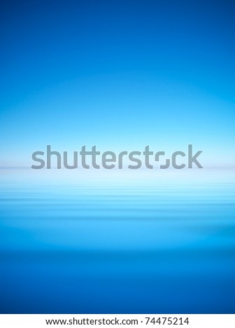 Bright sky and water. Abstract composition
