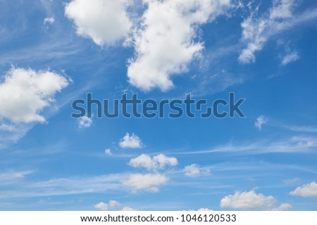 bright sky in spring abstract background