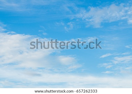 Bright sky with clouds formed in morning #657262333