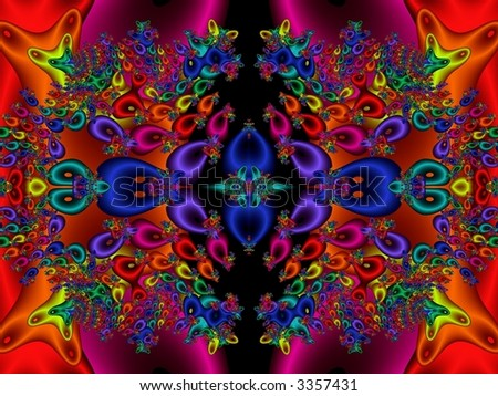 ... colored textures, kaleidoscopic design - fractal abstract background