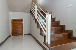Bright space - Interior staircase with cabinet