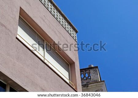 Bright spanish architecture photo. Lloret de Mar, Costa Brava.