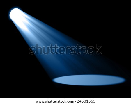 Bright spotlight - stock photo