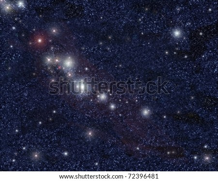 Bright star in universe - stock photo