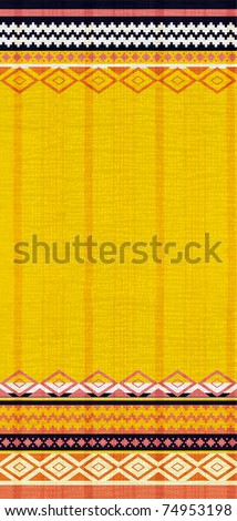 Bright striped background with traditional ethnic motifs