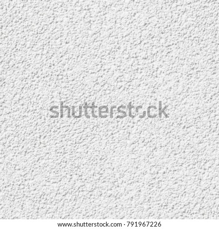 Bright structured wall plaster for background; Seamless texture for architecture renderings; Ongoing tile of white painted, structured house wall in closeup #791967226