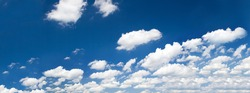 bright summer sky with cumulus clouds , photo resized down for better quality