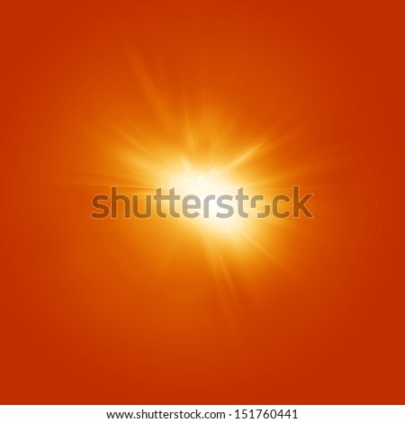 Bright summer sun on a orange and yellow background #151760441