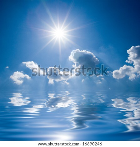 Bright Sun Above A Sea Stock Photo 16690246 : Shutterstock