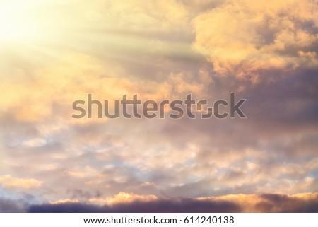 bright sun in the dark cloudy...