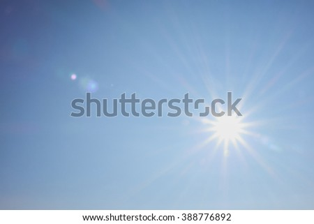 bright sun shines warmly for recreation and travel #388776892