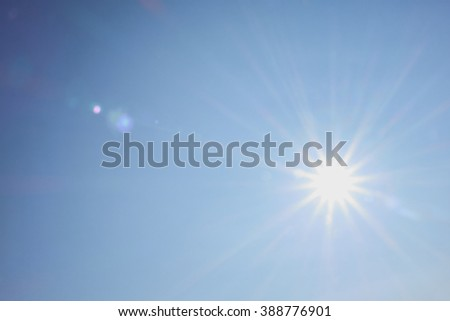 bright sun shines warmly for recreation and travel #388776901
