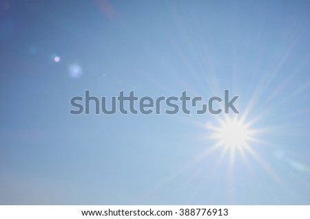 bright sun shines warmly for recreation and travel #388776913