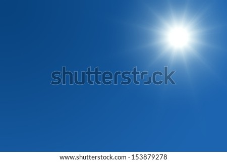 Bright sun with text space #153879278