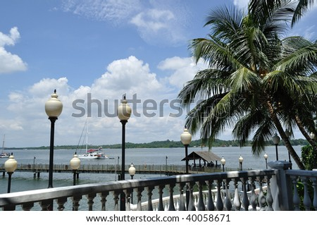 Singapore Pictures Beach on Bright Sunny Day On Singapore Beach Stock Photo 40058671