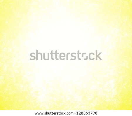 bright white background yellow border edges of vintage grunge background texture, white center for copyspace, hot sunshine background brilliant color frame, yellow sunny background, white paper, blank