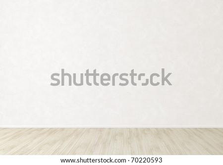 Bright white wall and light floor