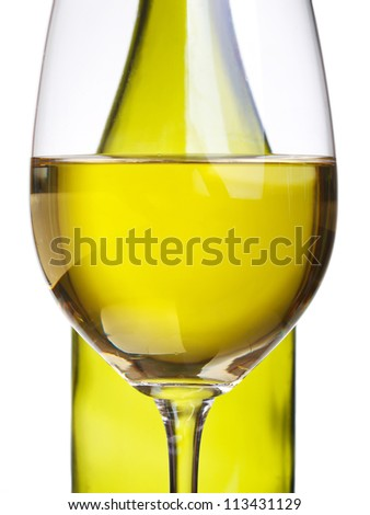 Bright wineglass. Abstract composition