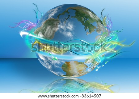 Bright world in phosphoric colors