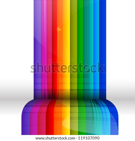 Brightly colored stripes with 3D effect - stock photo