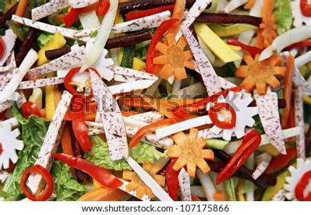 Brightly colored vegetables, close-up, Sweden.
