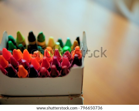 Brightly Colored Wax Coloring Pastels #796650736